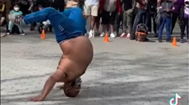 130-kilogramowy tancerz dał pokaz którego nikt się nie spodziewał [WIDEO]
